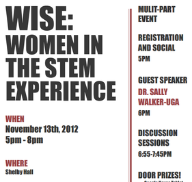 WiSE 2012 event flyer