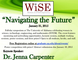 WiSE 2015 event flyer